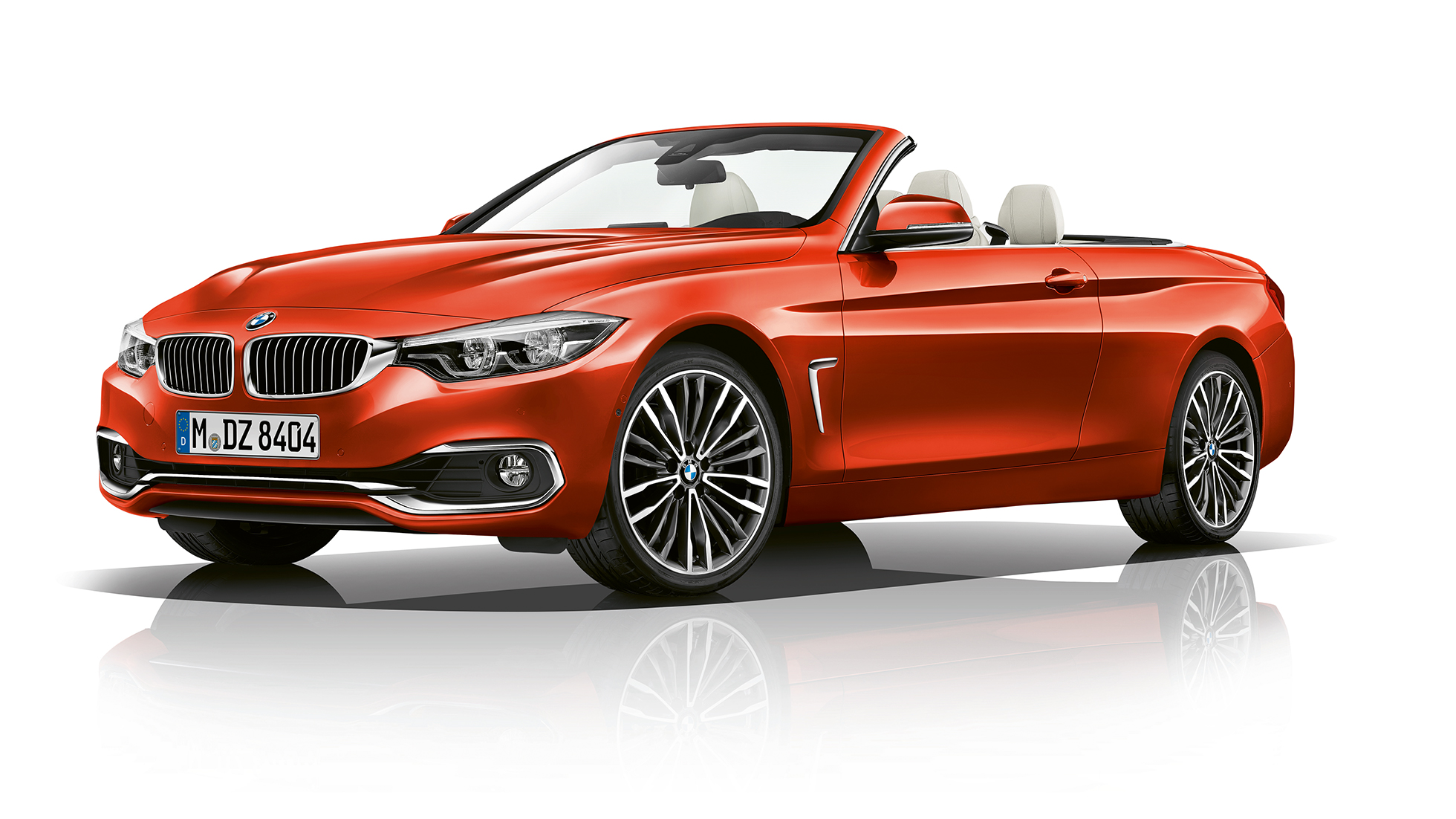 BMW 4 Series Convertible, Model Luxury Line three-quarter front shot