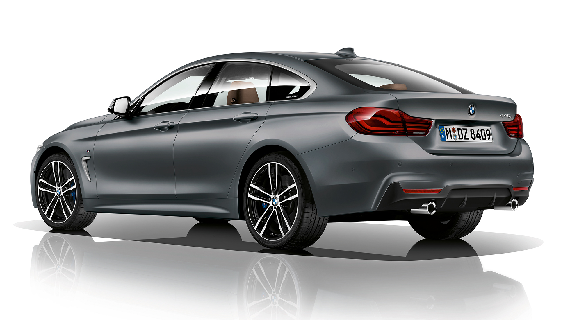 BMW 4 Series Gran Coupé, Model M Sport three-quarter rear shot