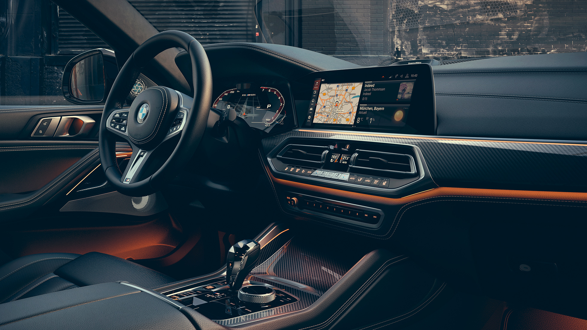The interior of the BMW X6.