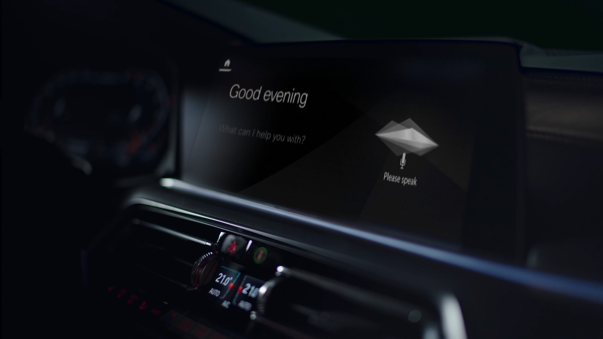Intelligent Personal Assistant: Close-up of iDrive Displays
