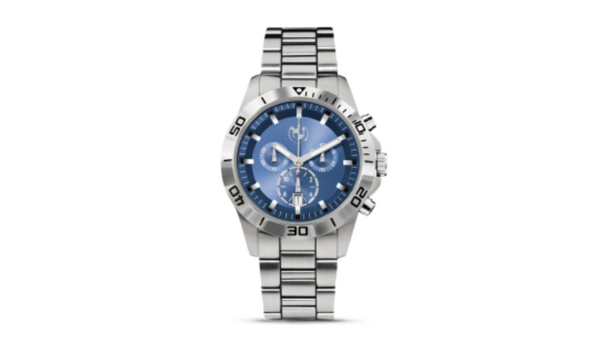 The product picture shows the BMW Sport Chrono Blue.