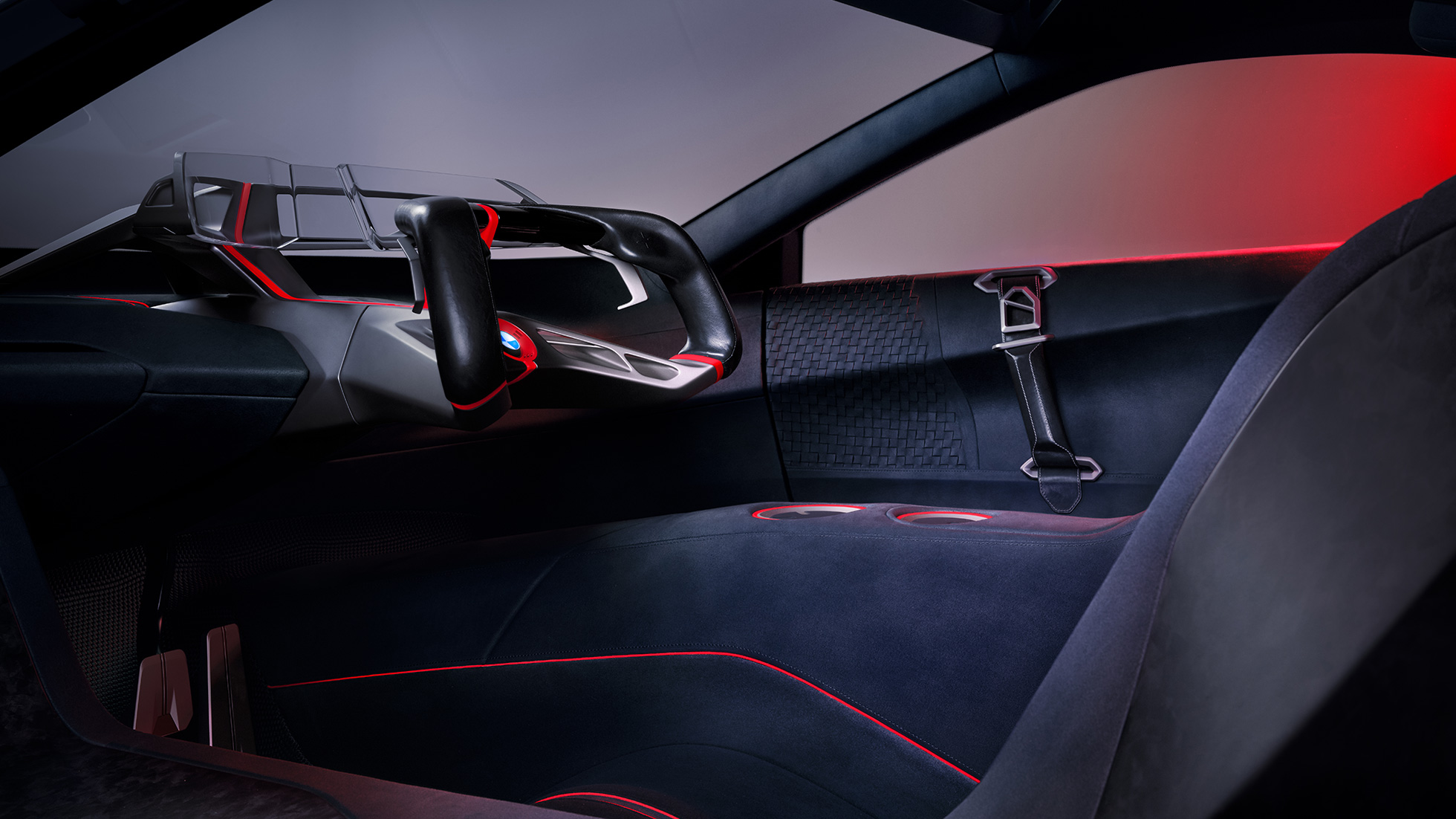 BMW Vision M NEXT, interior, design, seat shelts